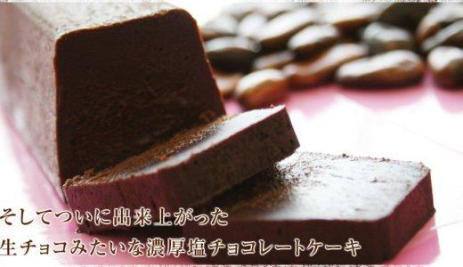 濃厚塩チョコレートケーキ