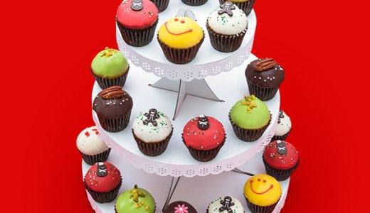 【クリスマス2017】チャプチーノの3段のケーキスタンド付きカップケーキはパーティーに最適♪